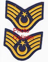 Luftfahrt Türkisch - Paar Wachtmeister Stripes Stiel Staff Sergeant