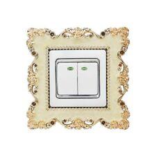 Resin Single Light Switch Surround Socket Finger Plates Panel Covers Home Decor