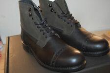 NIB FRYE Men's Garrison Combat Boot Made In USA size 9.5 M $458 black Multi
