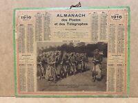 Calendrier Almanach des Postes télégraphes 1916 - WW1, Zouaves  , Loir et cher