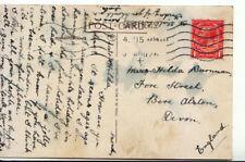Genealogy Postcard - Burnman - Fore Street - Bere Alston - Devon - 3041A