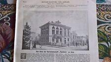 1890 Bauzeitung 1 / Jena haus der Burschenschaft Teutonia