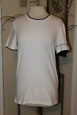 NEW DOLCE & GABBANA UNDERWEAR White & Black Crewneck Undershirt shirt, size XS