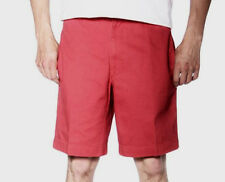 Chaps Mens Washed Twill Flat-Front Chino Shorts Size 42 Red Leaf Inseam 9