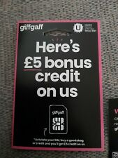2 Giffgaff sim cards. FREE DELIVERY!