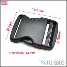 """2"""" 50mm Webbing SIDE RELEASE BUCKLE Adjust Buckle For Luggage Backpack Straps"""