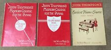 3 John Thompson Piano Instruction Books Music 1st 2nd Grade Easiest Course Pt 3