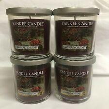 Yankee Candle (4) CRANBERRY CHUTNEY 7 oz Single Wick Tumbler Jar Candles FOUR!!