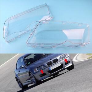 Left Right For 1999-2001 BMW E46 3 Series Sedan Headlight Lenses Shell Cover