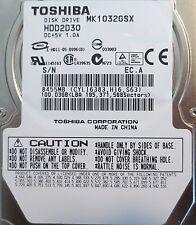 "10 pc. lot Toshiba MK1032GSX 2.5"" 100gb 5400rpm Sata HDD (DOD tested & Wiped)"
