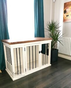 Handcrafted dog crates. Indoor wooden dog kennel