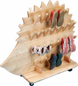Mobiler Stiefeligel Stiefelwagen - Schuhständer für 25 Paare lackiert