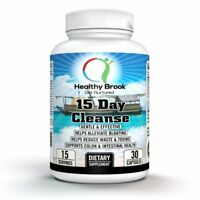 Healthy Brook 15 Day Cleanse 30 capsule COLON CLEANSE AND DETOX FOR WEIGHT LOSS