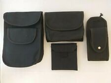 TUFFpouch Police Security Set Of Four Black Duty, Glove, Patrol & Phone Pouches