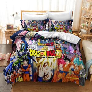 Dragon Ball Super 3PCS Bedding Set Quilt Duvet Cover Pillowcases Comforter Cover