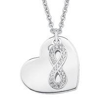 S.Oliver Halskette mit Herz und Infinity Silber 925 + WUNSCHGRAVUR