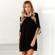 BS Sexy Women Long T-shirt Ladies Casual Party Blouse Beam sleeve Top Mini Dress