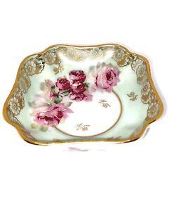 signed Faur\u00e9 Trinket Dish in Limoges Enamel