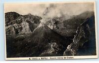 Naples Italy Mount Vesuvius Active Volcano Vesuvio Vintage Photo Postcard A91