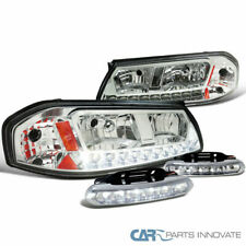 Chevy 00-05 Impala Clear SMD LED Headlights+6-LED Fog Lights Bumper Lamps