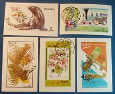 OMAN Middle East Used Souvenir Minisheets Seals Airplanes Flowers Locomotives 28