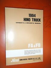 1994 HINO TRUCK ORIGINAL FACTORY OWNER'S DRIVER'S MANUAL MODELS FA FB