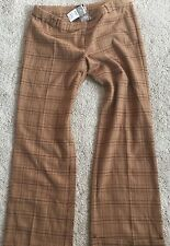 NWOT Babystyle Maternity Pants Tan Camel Plaid Trousers Petite XS 0 2 New