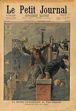 AGENT DE POLICE SUR LES TOITS NOURRITURE FORT CHABROL JULES GUÉRIN  PARIS 1899