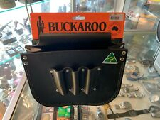 BUCKAROO (TMBB) LARGE RIGGERS BOLT BAG IN BLACK LEATHER - NEW NEVER USED !