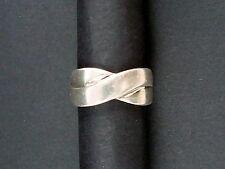 Silberring 925er Sterlingsilber 2 Stränge geflochten 80er 6 Gr. Größe: 16/56