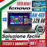 "PC NOTEBOOK LENOVO THINKPAD X240 12"" CPU I5 4gen 4GB RAM SSD 128GB WINDOWS 10 A"