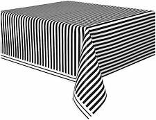 """Black & White Stripe Table Cover 54"""" x 108"""" Adults Party Tableware Supplies"""