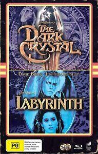 THE DARK CRYSTAL (1982) + LABYRINTH (1986) (Region Free) Blu-ray [VHS Edition]