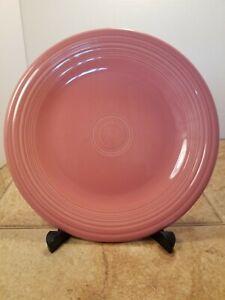 """Fiestaware Rose Pink 10 1/2"""" Dinner Plate Retired Homer Laughlin Fiesta HLC"""