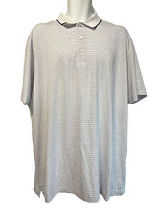 Callaway Opti Dri Blue White Striped Mens Size XL Golf Polo Shirt