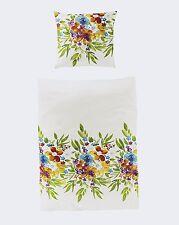 Bierbaum Bettwäsche Mako Satin Blumengruß in weiß 80 x 80 135 x 200 cm neu