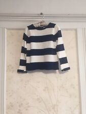 NWT Janie And Jack Girls Striped Sweater 5  5T Navy