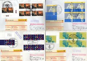 BRD  Bund  Ersttagsbriefe  FDC  Einschreiben    6  Stück         Lot1821