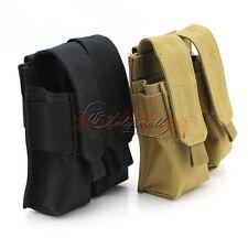 Tactical Molle Clip Double Mag Magazine Pouch Bag Pistol Magazine Pouch For AK