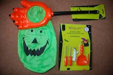 Halloween Trick or Treat Loot Collection Scoop & Pumpkin Carving Stencils & tool