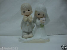 Precious Moments Porcelain Bisque Bride & Groom Figurine 1979 Model# E3114