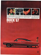 Vintage 1967 Magazine Ad Buick '67 The Tuned Car Backside is Singer Sew Machine
