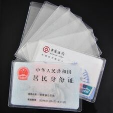 8PCS PVC Transparent Credit Card Holder Protect ID Card Business Card Cover CN