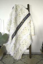 "BEAUTIFUL Moroccan Berber Wedding Blanket, Rug Handira Hand Made *NEW 60"" x 39"""