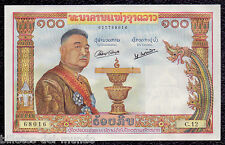 B-D-M Laos Lao  100 KIP King Sisavang Vong 1957 Pick 6 SC UNC