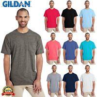 Gildan Plain Hammer T Shirt Short Sleeve Mens T-Shirt With Pocket H300 S-XL Tee
