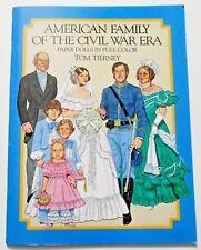 AMERICAN FAMILY OF THE CIVIL WAR ERA paper dolls UNCUT