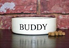 Dog bowl Medium 20cm personalised ceramic pet bowl hand Painted feeder dog gift