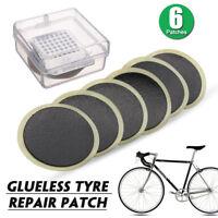 6 Pcs 25mm Self Adhesive Glueless Bike Patch Puncture Tyre Tire Tube Repair Kit