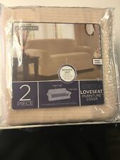 Maytex Reeves 2 Piece Stretch Loveseat Slipcover / Furniture Cover-Free Ship